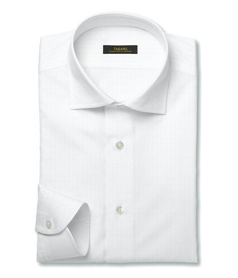 40/1ドレスシャツ  ドビーストライプ(ホワイト)