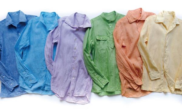 麻カラーシャツ