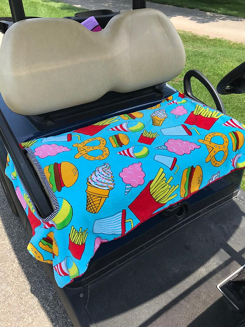 Snack Attack Terry Cloth Golf Cart Seat Cover