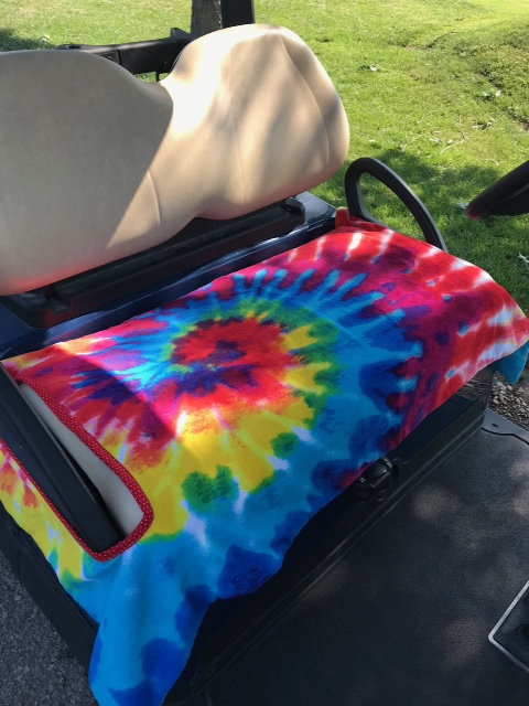 Color Blast Terry Golf Cart Seat Cover