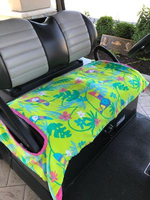 Toucan Terry Cloth Golf Cart Seat Cover