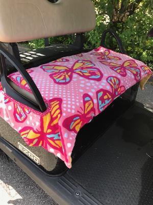 Pink Butterflies Terry Cloth Golf Cart Seat Cover