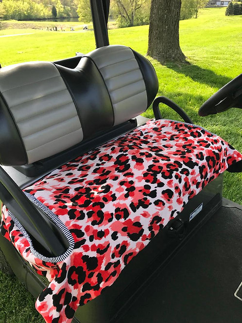Pink & Black Leopard Terry Cloth Seat Cover