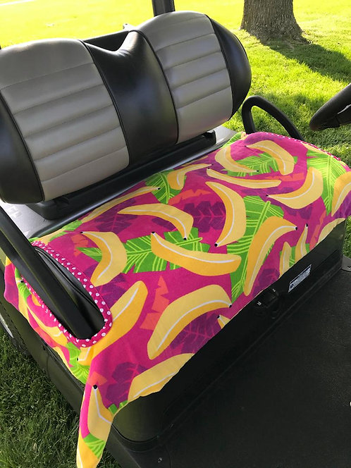 Bananas Terry Cloth Golf Cart Seat Cover