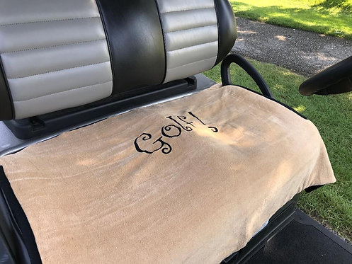 """Beige """"Golf"""" Terry Cloth Golf Cart Seat Cover"""