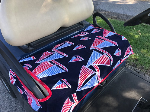 Sailboats Terry Cloth Golf Cart Seat Cover