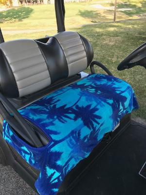 Night in Blue Terry Cloth Golf Cart Seat Cover