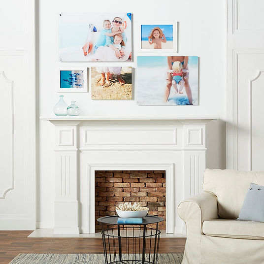 Beach Family Room Setting on Acrylic Soc