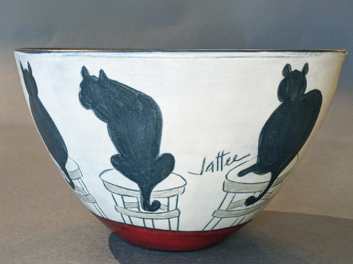 Cat Bowl Sally Jaffee