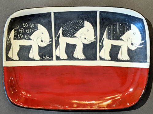 Elephant Tray Sally Jaffee