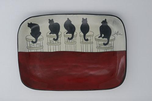 Cat tray Sally Jaffee