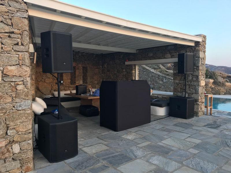 Sound Rental Mykonos, Rent Speakers