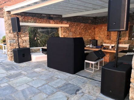 Sound Equipment Rental in Mykonos, rent Speakers mykonos,dj Equipment,