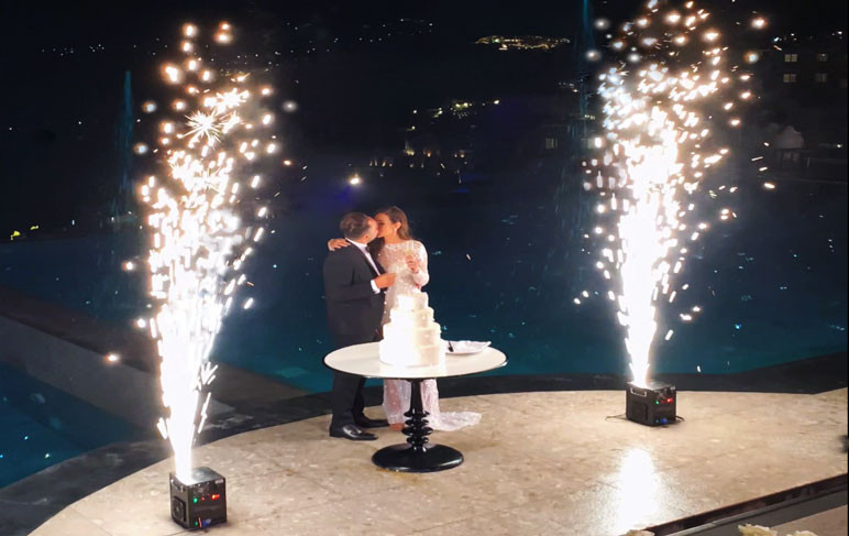 wedding fireworks mykonos, wedding dj services in Mykonos, hire wedding dj, dj services, sound rental mykonos