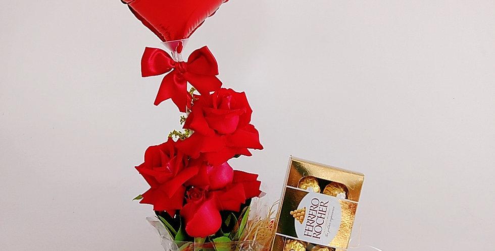 Amor, rosas e ferrero