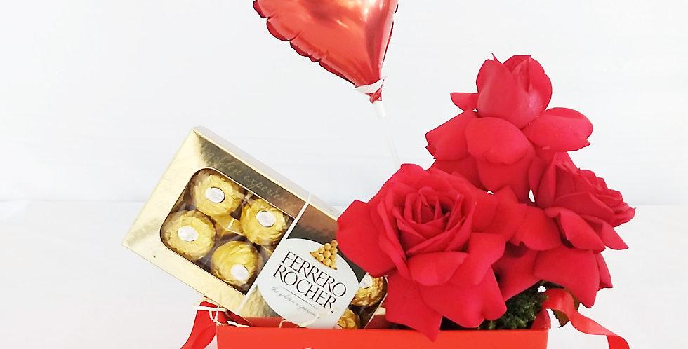 LOVE- ROSAS E CHOCOLATE