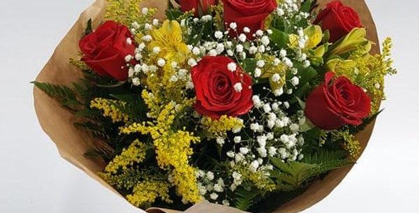 Buque de rosas ( meia duzia)