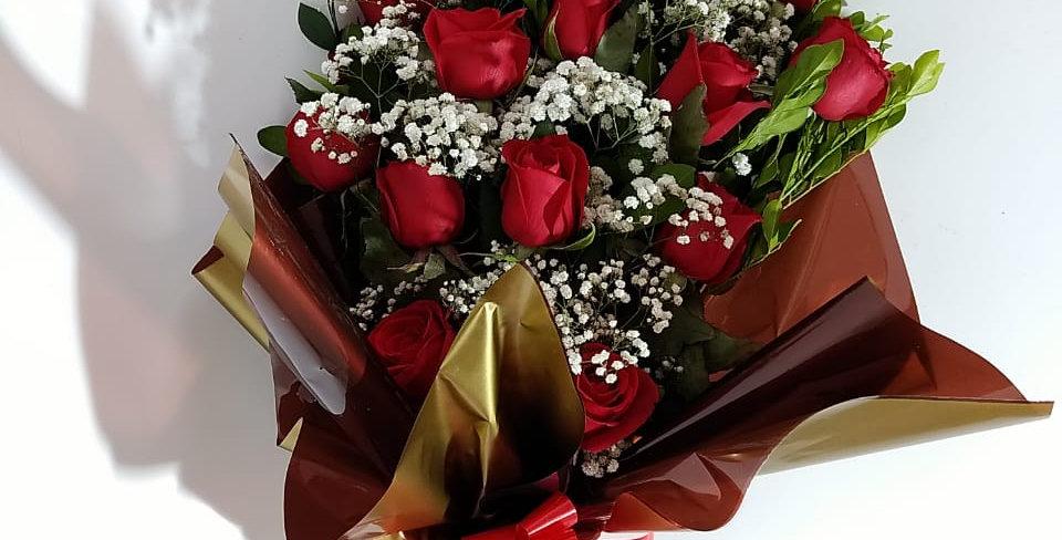 Buque leque (15 rosas)