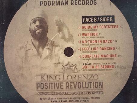 Positive Revolution de KING LORENZO disponible en vinyle.