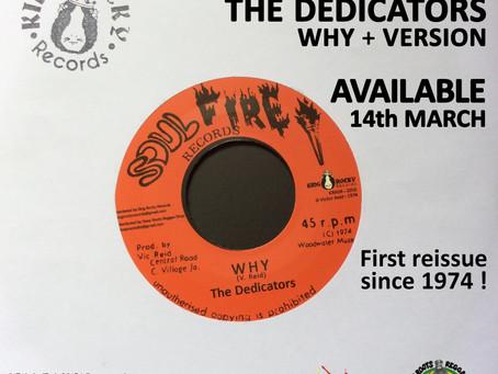 Nouvelle sortie KING ROCKY Records : THE DEDICATORS - WHY+VERSION disponible le 14 mars prochain.