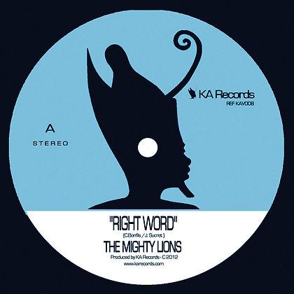 7/ KA Vinyle #8 - Right Word