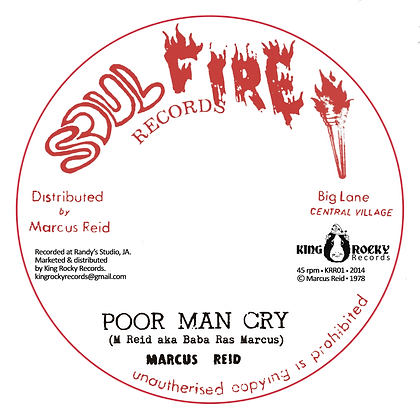 MARCUS REID - Poor man cry/Soul on fire