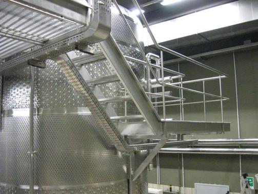 Montaggio scala a rampa - particolare