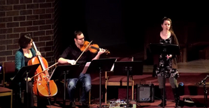 """Julia Emery, Arlo Adams, and Sarah Perske perform """"Walking Home at Sunset"""" from """"Ancient Dreams and Visions"""""""