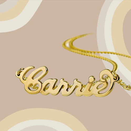 14K Carrie Bradshaw Gold Necklace
