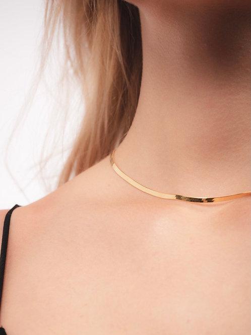 Herringbone Snake Necklace