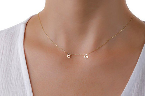 Silver Gold Plated Letter Necklace