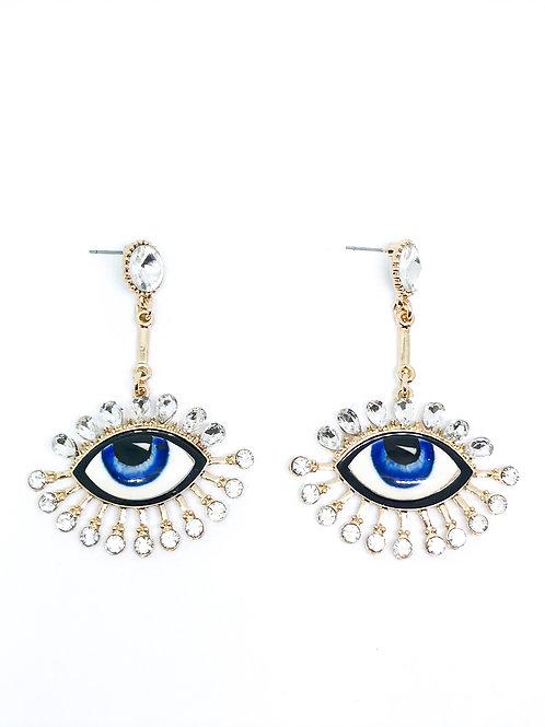 Blue Cristal Earrings
