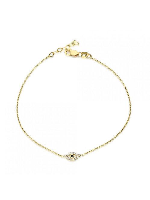 14k Duru Eye Bracelet