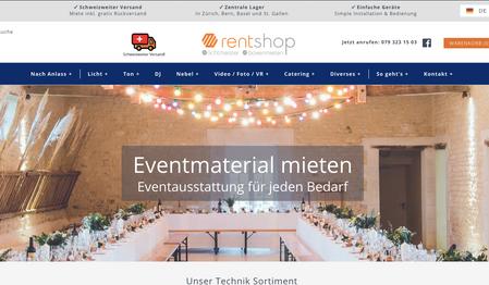 SEO- und Produkttexte für Rentshop.ch
