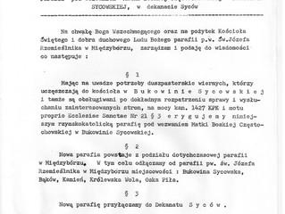 38 rocznica erygowania Parafii w Bukowinie Sycowskiej