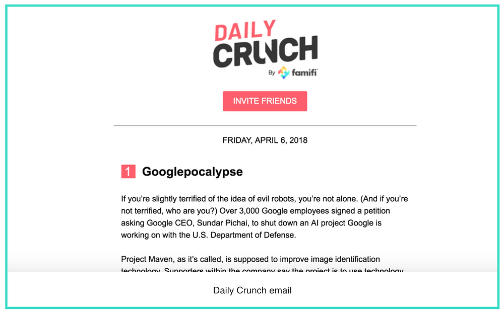 daily crunch email