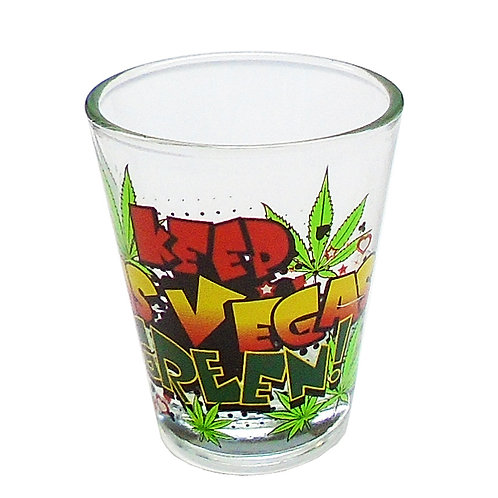 Keep Las Vegas Green Shot Glass