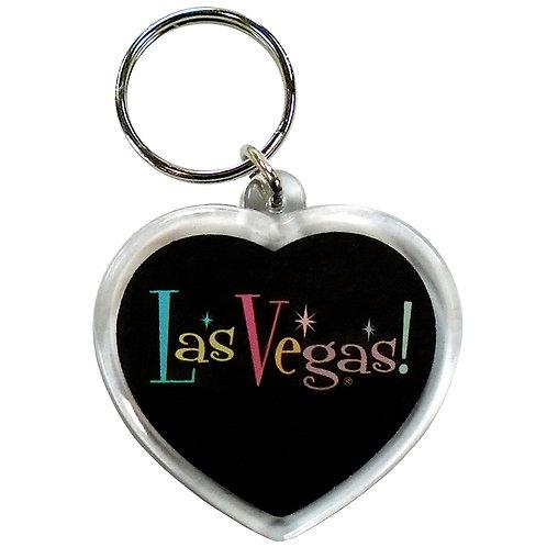 I Love LV Sparkling Keychain