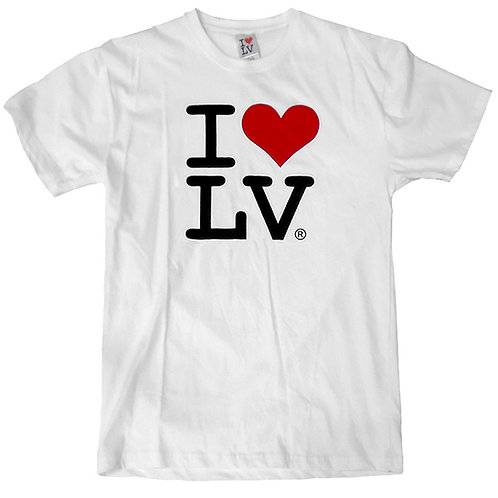 I Love LV Adult T Shirt