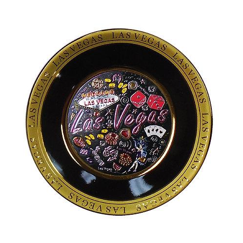 LV Gambling Ceramic Plate