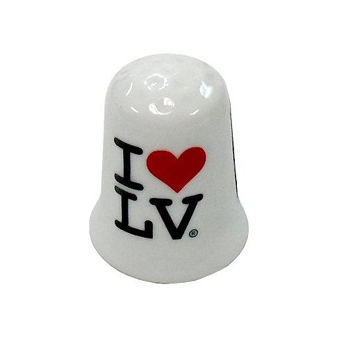 I Love LV Ceramic Mini Bell