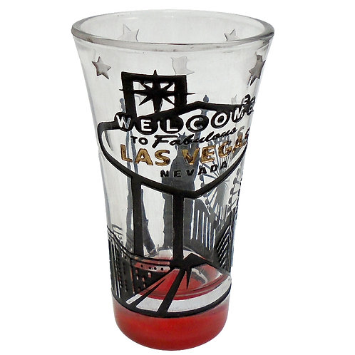 Las Vegas Hotels Tall Shot Glass