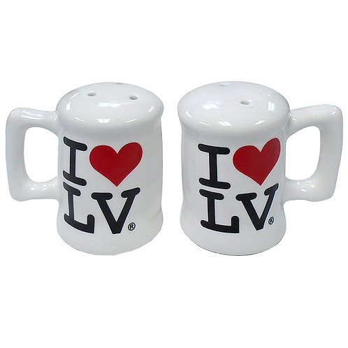 I Love LV Salt and Pepper Shaker with Handles