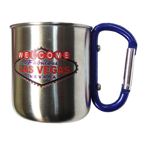 Las Vegas Metal Mug w/ Carabiner Handle