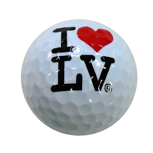 I Love LV Golf Ball