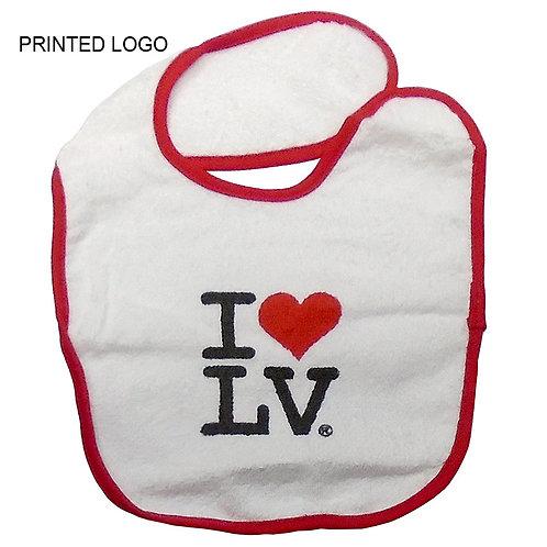 I Love LV Baby Bib