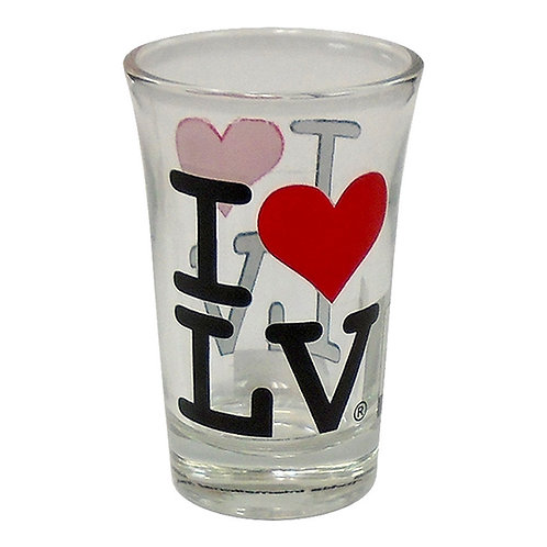 I Love LV Tall Shot Glass