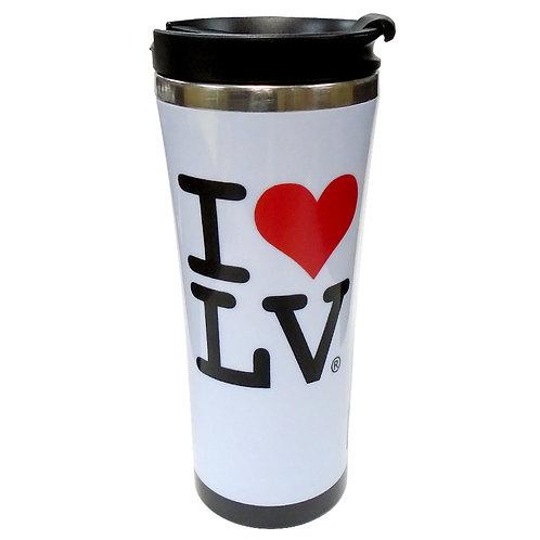 I Love LV Travel Mug