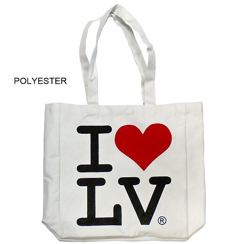 I Love LV Polyester Bag