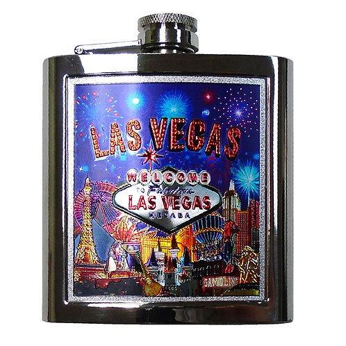 LV Strip Blue Flask